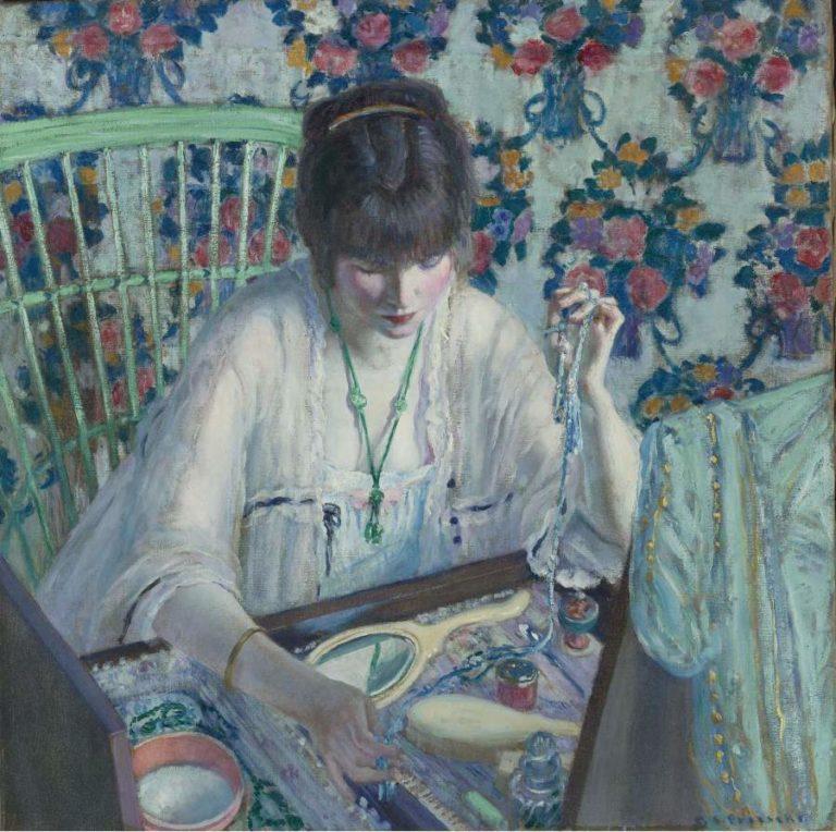 La Poudreuse | Frederick Carl Frieseke | oil painting