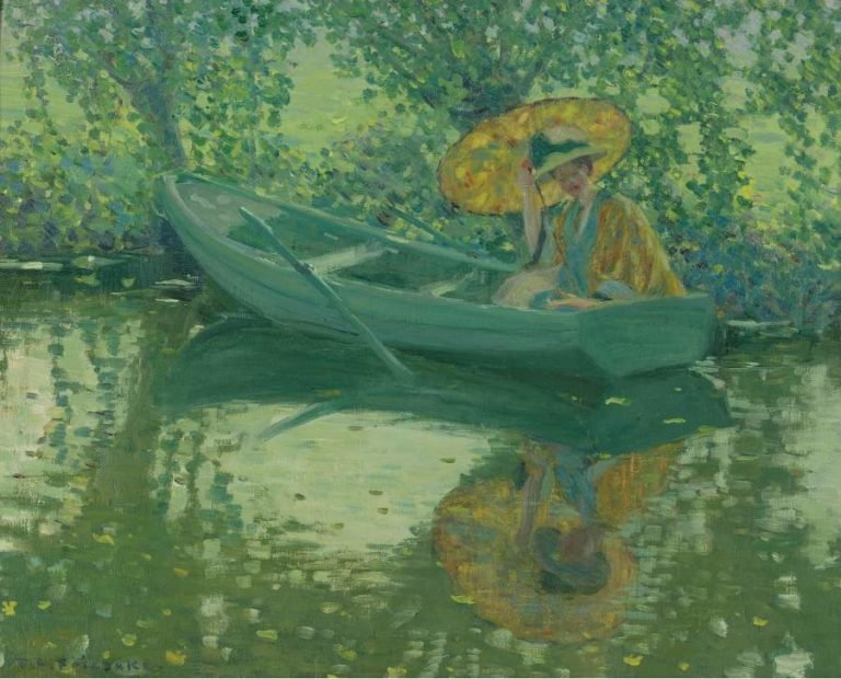 On the River 1908 | Frederick Carl Frieseke | oil painting