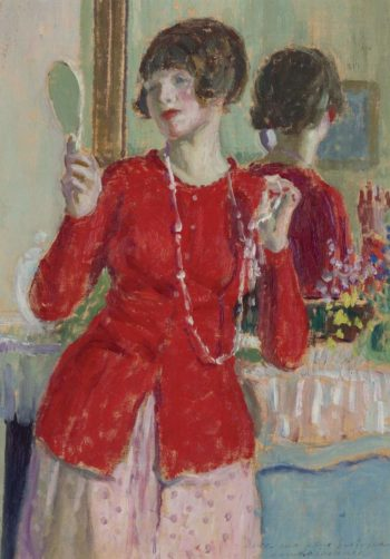 Woman with a Mirror | Frederick Carl Frieseke | oil painting