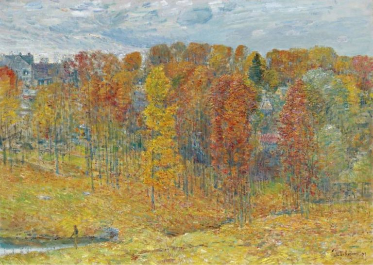 Autumn 1909 | Frederick Childe Hassam | oil painting