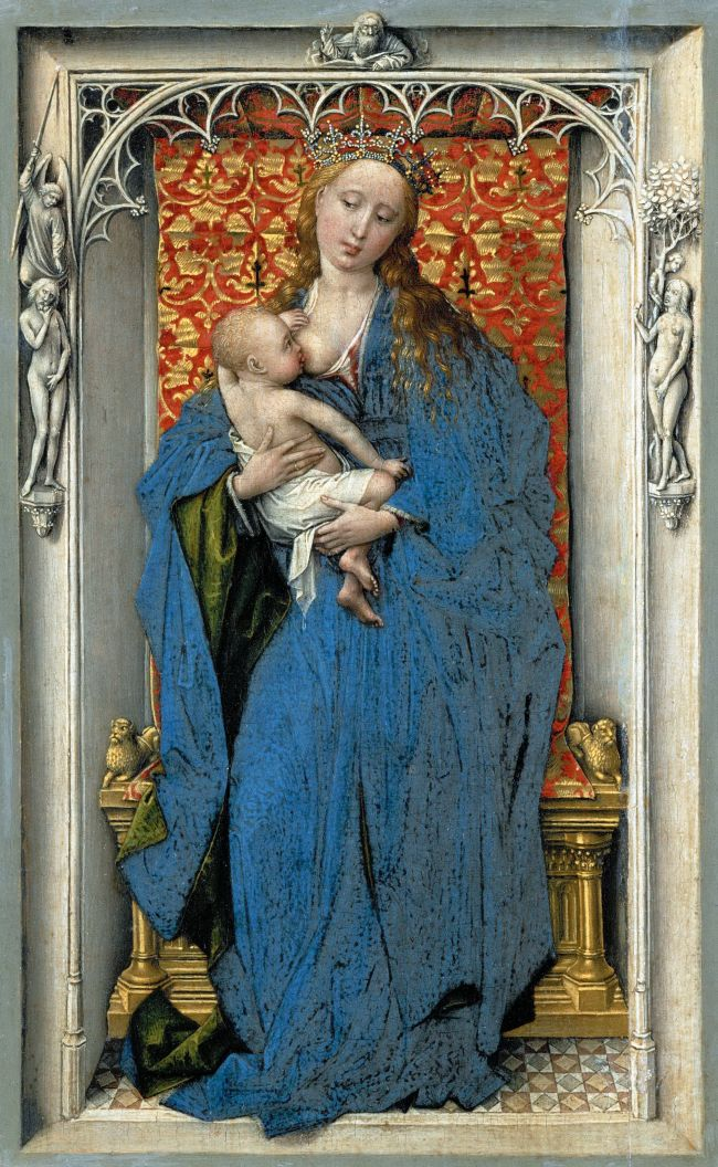 The Virgin and Child Standing in a Niche | Rogier van der Weyden | oil painting