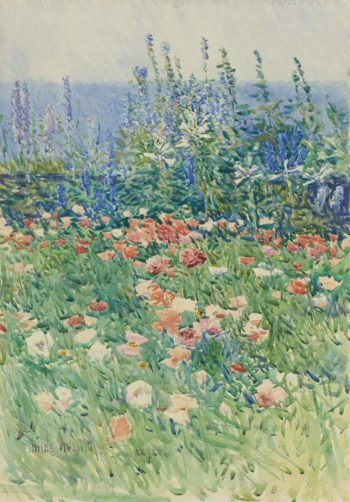 Flower Garden Isles of Shoals 1893 | Frederick Childe Hassam | oil painting