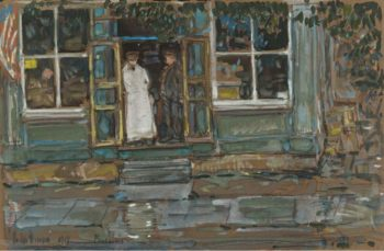 Grocery Store Phoenecia 1917 | Frederick Childe Hassam | oil painting