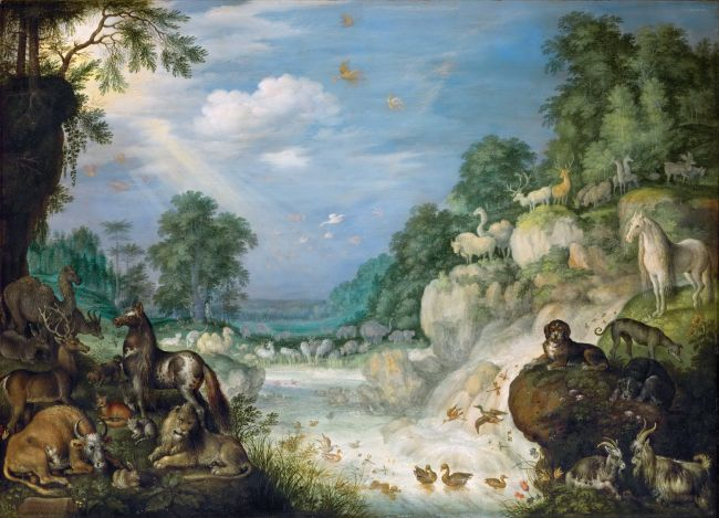 1620c Paradise | Roelandt Savery or Jan Brueghel the Younger | oil painting