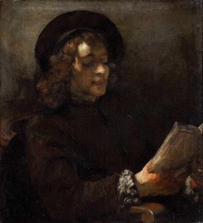 Titus Reading | Rembrandt van Rijn | oil painting