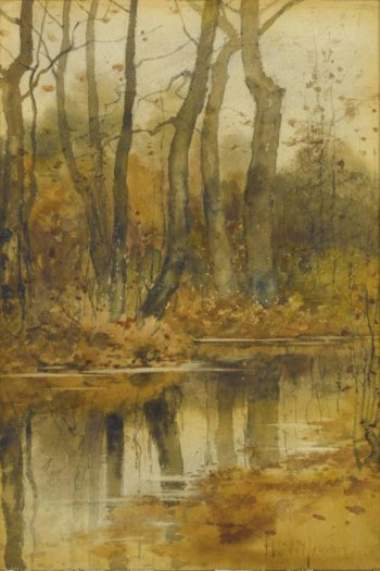 Stream in the Woods | Frederick Childe Hassam | oil painting