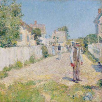 Street in Gloucester 1896 | Frederick Childe Hassam | oil painting