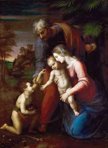Holy family and young St John the Baptist 1513-1514 | Raphael | oil painting