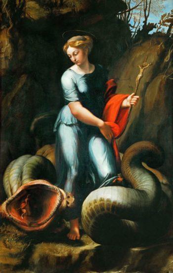 Saint Margaret | Raphael and workshop perhaps Giulio Romano | oil painting