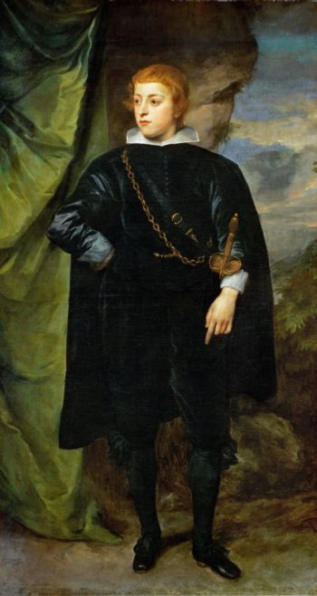 Ludwig of Palatinate -1617-1680 Son of the Winterking Friedrich V   Prince Karl - Anthony van Dyck   oil painting