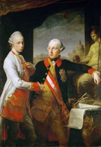 Emperor Joseph II and Emperor Leopold II | Pompeo Batoni | oil painting
