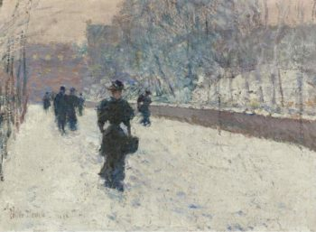 The Promenade Winter in New York 1895 | Frederick Childe Hassam | oil painting