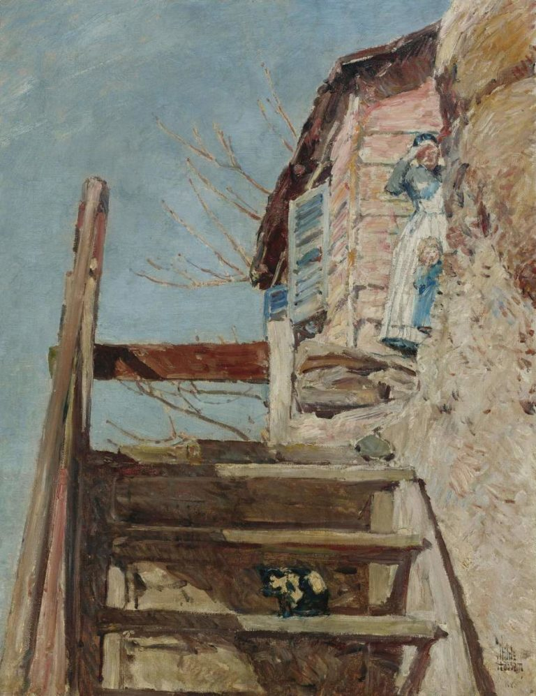 The Stairs 1888 | Frederick Childe Hassam | oil painting