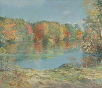Walden Pond | Frederick Childe Hassam | oil painting