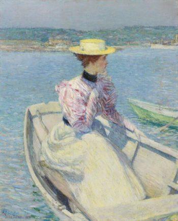 The White Dory Glouchester 1895 | Frederick Child Hassam | oil painting