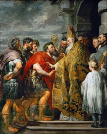 Saint Ambrosius and Emperor Theodosius | Peter Paul Rubens | oil painting