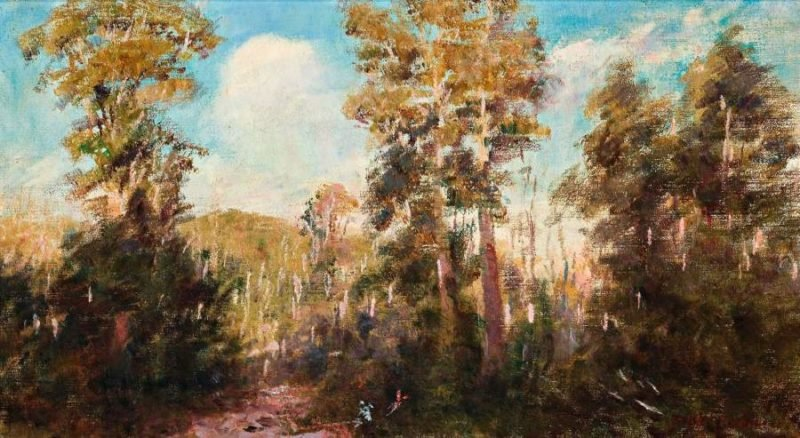 Campsite near Narbethong | Frederick McCubbin | oil painting