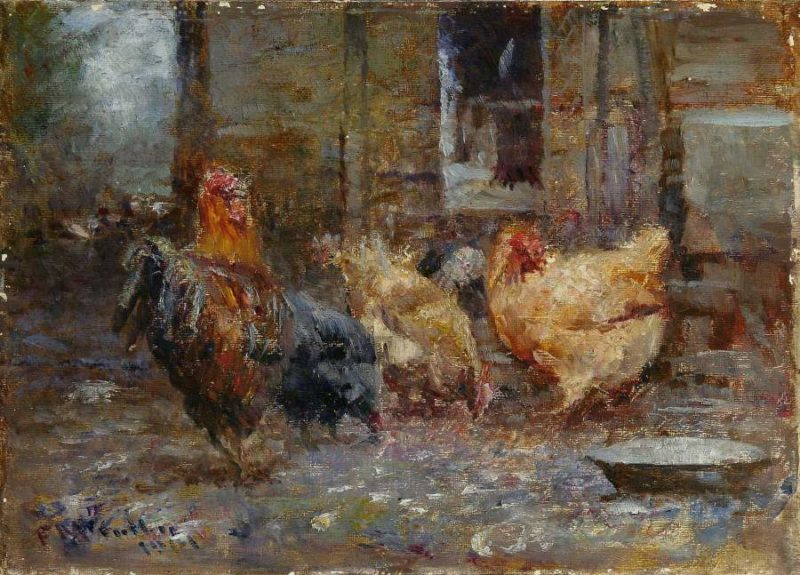 Chickens 1901   Frederick McCubbin   oil painting