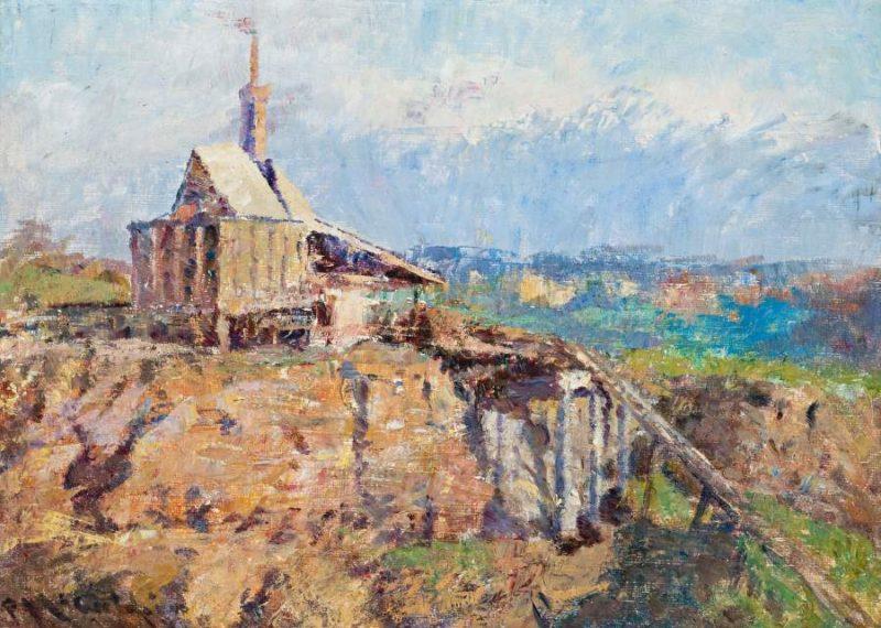 The Richmond Stone Crusher 1910   Frederick McCubbin   oil painting