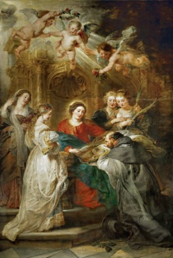 Ildefonso Altarpiece central panel with Holy Virgin Appears to Saint Ildefonso | Peter Paul Rubens | oil painting