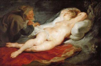 Hermit and Sleeping Angelica | Peter Paul Rubens | oil painting