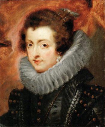 Elizabeth of France Queen consort of Philip IV King of Spain   Peter Paul Rubens   oil painting