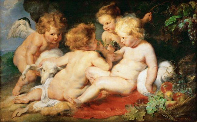 Christ Child with Saint John and Two Angels | Peter Paul Rubens | oil painting