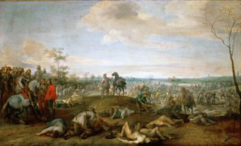 Field of Battle   Peeter Snayers   oil painting