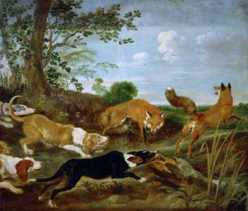 Fox-hunt | Paul de Vos | oil painting