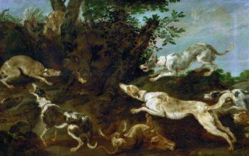 Boar-hunt | Paul de Vos | oil painting