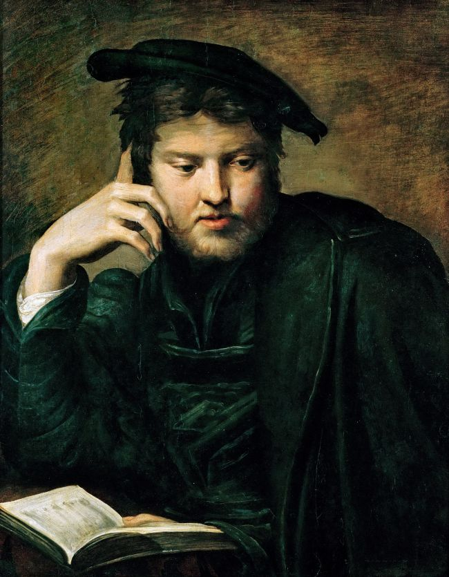 Portrait of a Man with a Book   Parmigianino   oil painting
