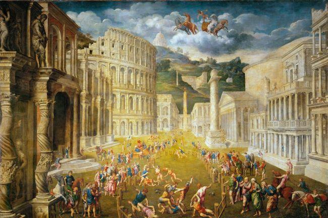 Fighting Gladiators | Paris Bordone | oil painting