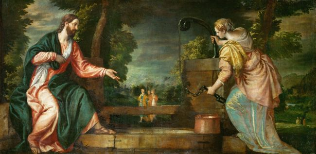 Christ and the Samaritan Woman at the Well | Paolo Veronese | oil painting
