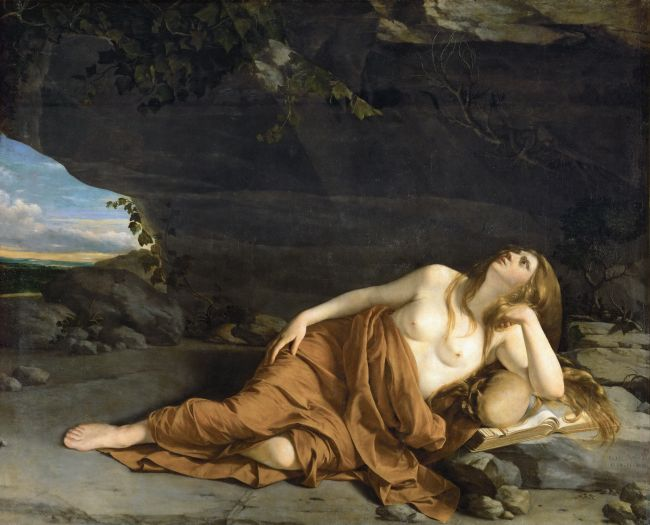 Saint Mary Magdalen Repenting   Orazio Gentileschi   oil painting