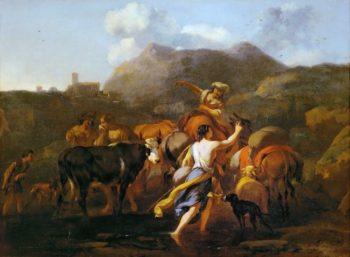 Cowherds and Herd | Nicolaes Berchem the Elder | oil painting