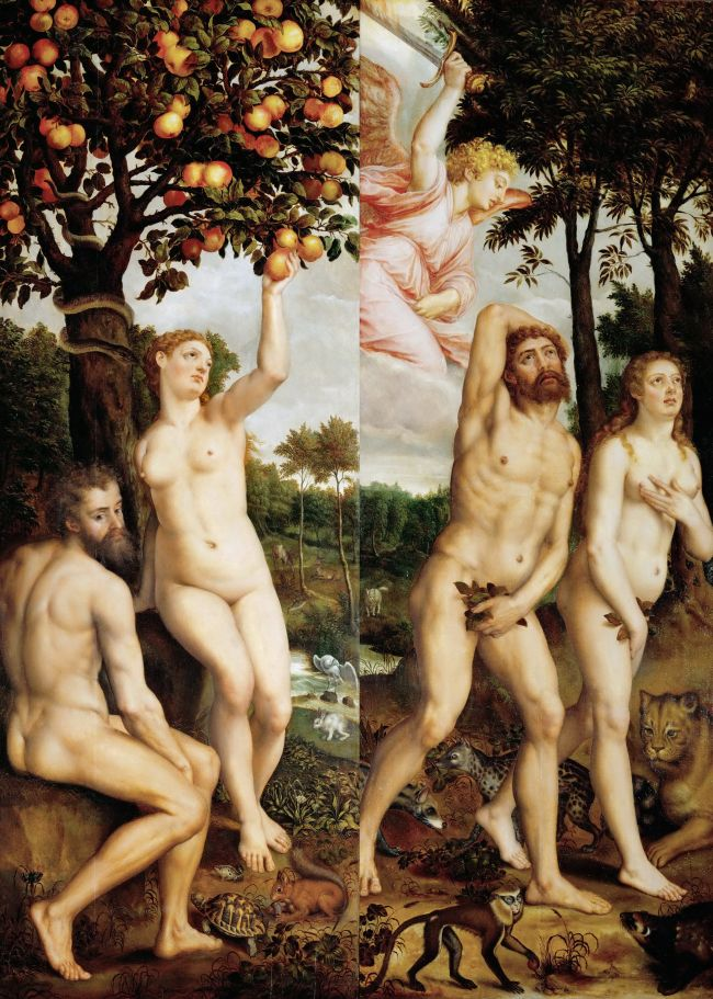 Fall of Man and Expulsion from Paradise | Michiel Coxcie I | oil painting
