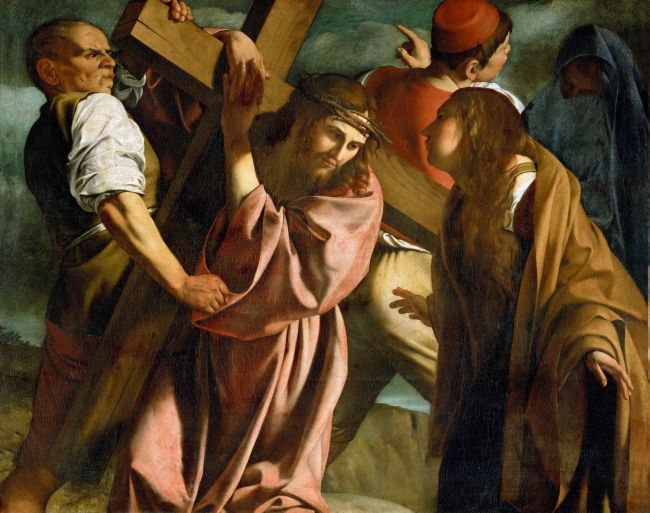 Christ carrying the cross | Michelangelo Merisi da Caravaggio | oil painting