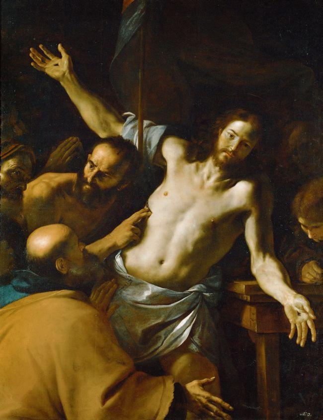 Doubting Thomas   Mattia Preti   oil painting