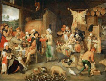 Flemish Interior | Marten van Cleve I | oil painting