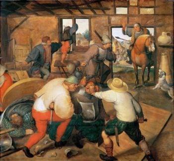 Brawl in a Pub | Marten van Cleve I | oil painting