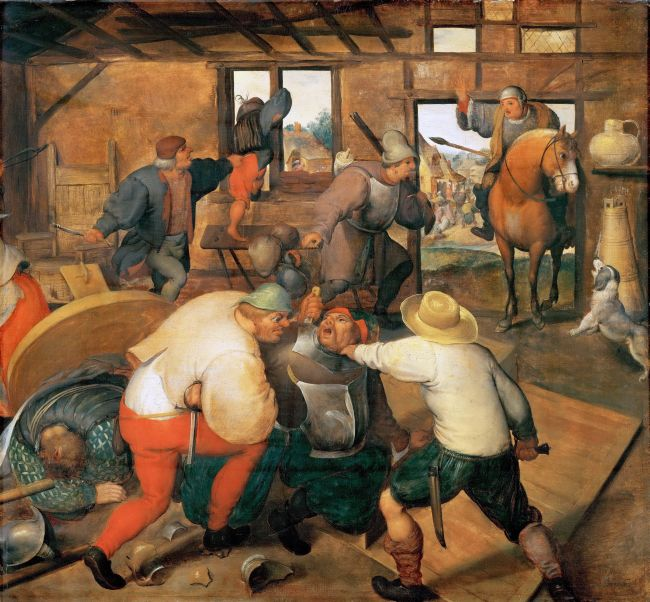 Brawl in a Pub | Marten van Cleve I | oil painting