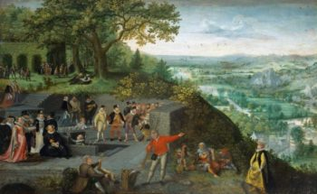Emperor Rudolf II taking a drinking cure | Lucas van Valckenborch | oil painting