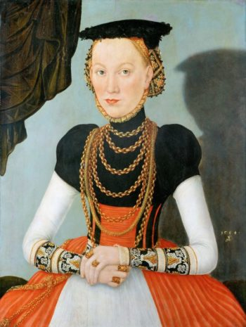 Portrait of a Woman 1564 | Lucas Cranach the younger | oil painting