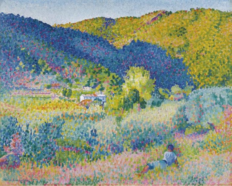 Landscape with Mountain Range 1904   Henri Edmond Cross   oil painting