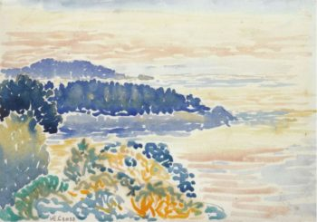 Mediterranian Coast Seascape | Henri Edmond Cross | oil painting