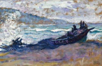 Old Boat on the Sand | Henri Edmond Cross | oil painting