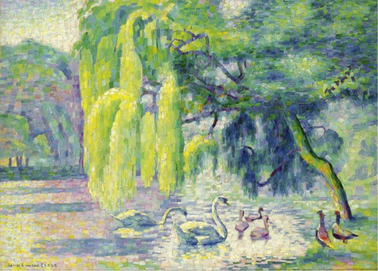 Swans Family 1899 1900 | Henri Edmond Cross | oil painting