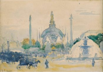 The Concorde Square during the World Exposition 1900   Henri Edmond Cross   oil painting