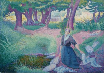 The Laundress 1895 96 | Henri Edmond Cross | oil painting