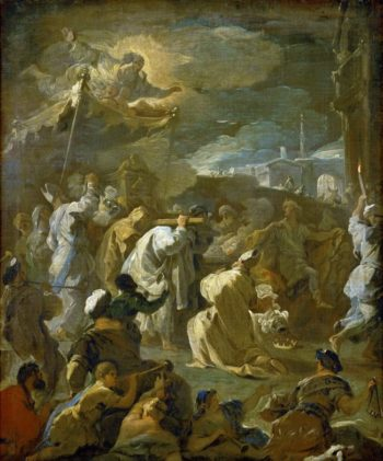 David Brings the Ark to Jerusalem | Luca Giordano | oil painting